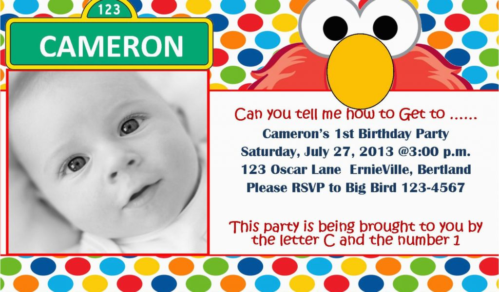 Download By SizeHandphone Tablet Desktop Original Size Back To Sesame Street First Birthday Invitations