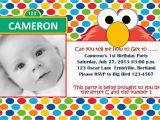 Sesame Street First Birthday Invitations Free Printable Elmo 1st Birthday Invitations Template