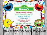 Sesame Street First Birthday Invitations Printable Sesame Street Invitation Diy Invitation Elmo