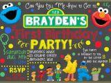 Sesame Street First Birthday Invitations Sesame Street Chalkboard Invitation Sesame by Letsgetchalky
