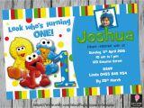 Sesame Street First Birthday Invitations Sesame Street First Birthday Invitation by