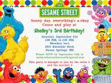 Sesame Street Photo Birthday Invitations Free Sesame Street Birthday Invitations Bagvania Free