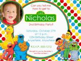 Sesame Street Photo Birthday Invitations Sesame Street Birthday Invitation