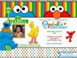 Sesame Street Photo Birthday Invitations Sesame Street Birthday Invitation Photo Invitation