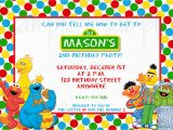 Sesame Street Photo Birthday Invitations Sesame Street Birthday Invitation Sesame Street Invitation