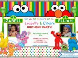 Sesame Street Photo Birthday Invitations Sesame Street Birthday Invitation Sesame Street Joint or