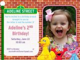 Sesame Street Photo Birthday Invitations Sesame Street Birthday Party Ideas Games Food