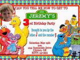 Sesame Street Photo Birthday Invitations Sesame Street Gang Custom Photo Birthday Invitation You
