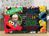 Sesame Street Photo Birthday Invitations Sesame Street Invitation Sesame Street Birthday Invitation