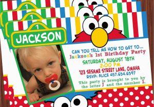Sesame Street Photo Birthday Invitations Party Printable Collection Mimi 39 S Dollhouse