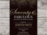 Seventy Birthday Invitations 70th Birthday Invitation for Women Printable Seventy and