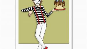 Sexy Birthday Cards for Men Funny Birthday Card Mime Birthday Card Adult Birthday Card