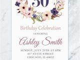 Sexy Birthday Invitations Floral Birthday Invitation Adult Birthday Invitation