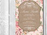 Shabby Chic Birthday Invitation Templates Free Printable Shabby Chic Wedding Invitation Templates