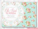 Shabby Chic Birthday Invitation Templates Free Shabby Chic Birthday Invitations Template Best Template