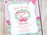 Shabby Chic Birthday Invitation Templates Free Template Shabby Chic Baby Shower Invitation Templates