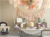 Shabby Chic Birthday Party Decorations Kara 39 S Party Ideas Shabby Chic Girl Vintage 1st Birthday