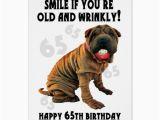Shar Pei Birthday Card Humourous Shar Pei Old and Wrinkly Birthday Card Zazzle Ca