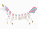 Sharechat Happy Birthday Banner New 1set New Unicorn Happy Birthday Banner Magical Pastel