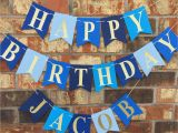 Sharechat Happy Birthday Banner New Blue Birthday Banner Happy Birthday Banner Personalized