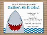 Shark Birthday Invitations Free Printables 6 Best Images Of Shark Birthday Invitations Printable