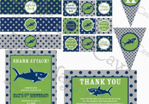 Shark Birthday Invitations Free Printables 6 Best Images Of Shark