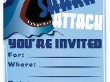 Shark Birthday Invitations Free Printables Shark Invitation Template Templates Data