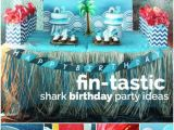 Shark Decorations for Birthday Party A Fin Tastic Boys Shark Party Spaceships and Laser Beams