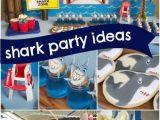 Shark Decorations for Birthday Party Boy 39 S Shark themed Beach Bash Birthday Party Spaceships
