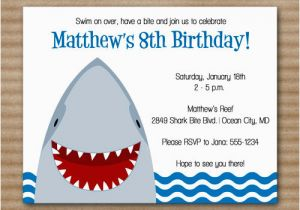 Shark Invites Birthday Party 6 Best Images Of Invitations Printable