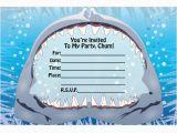 Shark Invites Birthday Party Fill In Birthday Invitations Ideas Bagvania Free