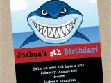 Shark Invites Birthday Party Shark Birthday Invitation Printable or Printed Shark Party