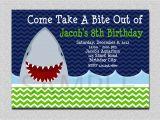 Shark Invites Birthday Party Shark Birthday Invitation Shark Birthday Party Invitation