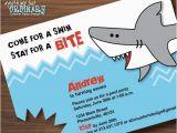Shark Invites Birthday Party Shark Birthday Invitations Printable Shark Invites Shark