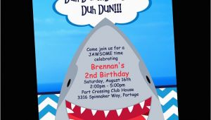 Shark Invites Birthday Party Shark Birthday Party Invitations