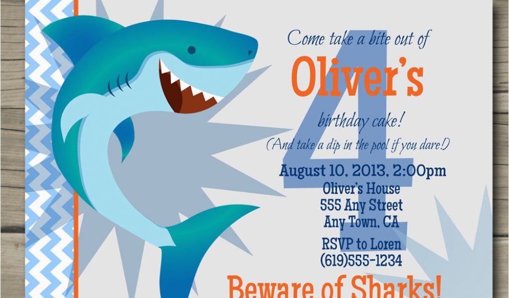 Download By SizeHandphone Tablet Desktop Original Size Back To Shark Invites Birthday Party
