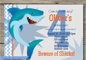 Shark Invites Birthday Party Bite Invitation Printable