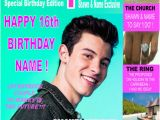 Shawn Mendes Birthday Card Shawn Mendes A5 39 Magazine Style 39 Personalised Birthday