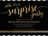 Shhh Birthday Invitations Shhh Its A Surprise 50th Birthday Invitation 50th