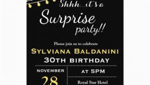 Shhh Birthday Invitations Shhh Its A Surprise Party Birthday Invitation Zazzle Com