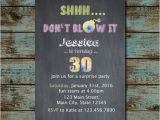 Shhh Birthday Invitations Shhh Surprise Any Age Surprise Birthday Invitation by