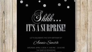 Shhh Surprise Birthday Invitations Shhh It 39 S A Surprise Birthday Party Invitation Surprise