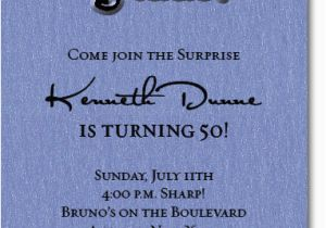 Shhh Surprise Birthday Invitations Shimmery Blue 39 Party