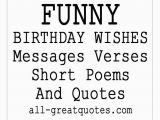 Short Funny Happy Birthday Quotes Funny Birthday Wishes Poems to Write In Cards S On Short