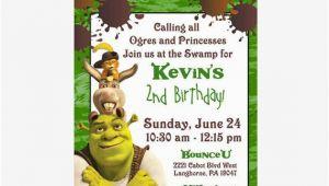 Shrek Birthday Invitations Shrek Birthday Invitation 5 X 7 Digital Invitation