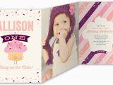 Shutterfly 1st Birthday Invitations Bring On Cake 5×7 Tri Fold Girl 1st Birthday Invitations