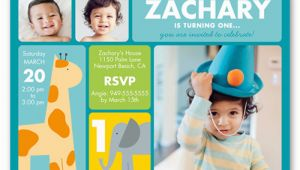 Shutterfly 1st Birthday Invitations Zoo Birthday Invitations Shutterfly