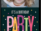 Shutterfly Birthday Invites Party Dots 4×8 Teen Birthday Invitations Shutterfly