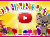 Sing Birthday Cards Cake Candles Singing the Happy Birthday song Happy