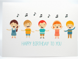 Singing Birthday Cards for Children Happy Birthday Card Kids Singing Happy Birthday Hbc169